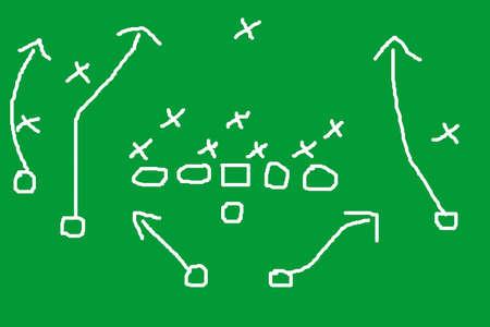 offense: Diagram of football play Stock Photo