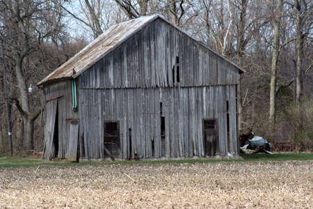 rundown: Old rundown barn Stock Photo