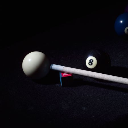 billiards cues: Billiards,Cue, eight ball and cue ball