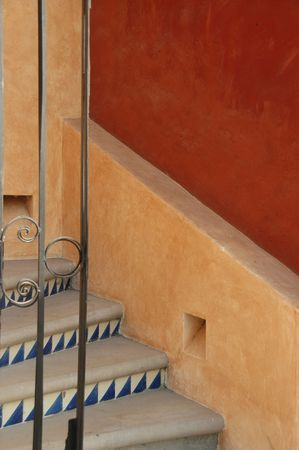 exits:  Lifestyle Mexico,Stairs in Mexico Stock Photo
