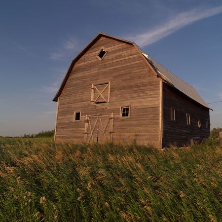 Canadian Prairies,Derelict barn  photo