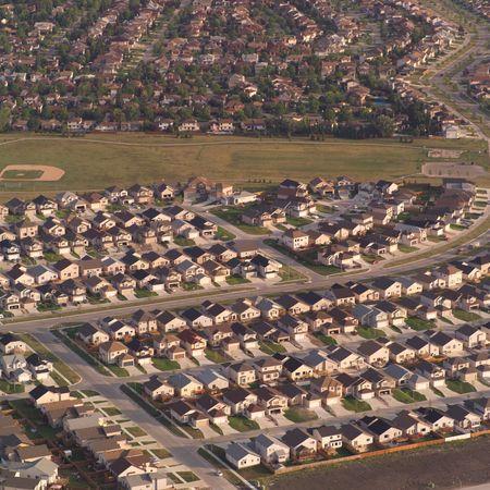 Canadian Prairies,Aerial view of houses
