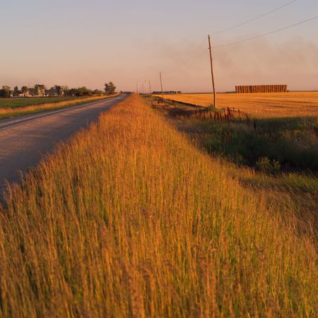 Canadian Prairies,Rural road Stock Photo - 2348483
