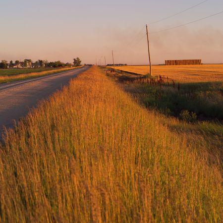 Canadian Prairies,Rural road Stock Photo - 2348483