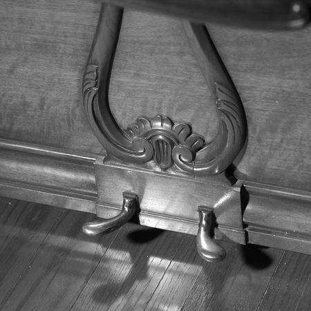楽器、ピアノのペダル 写真素材