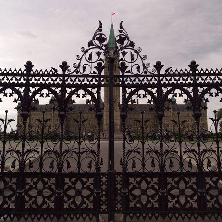 Ottawa Ontario Canada, Decorative Iron Fence Parlement Hill Ottawa