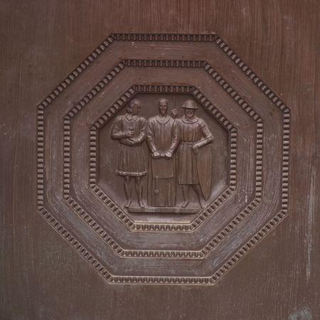 Ottawa Ontario Canada,Octagon Carvings on wall Stock Photo