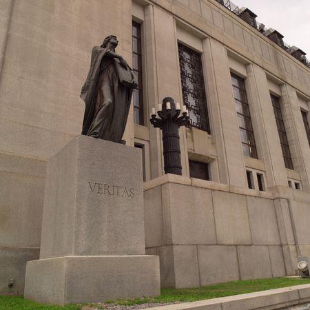 Ottawa Onta Canada,Veritas statue in front of Supreme Court of Canada building Stock Photo - 2348579