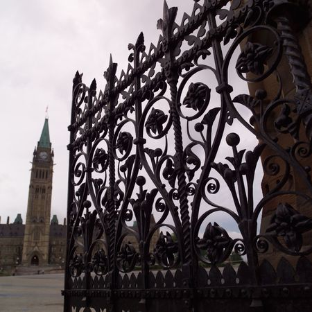 Ottawa Ontario Canada,Decorative Iron Fence Parliament Hill Ottawa