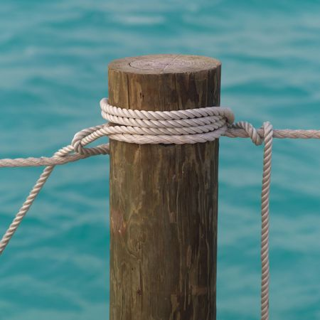 post: Parrot Cay,Wooden Post on Dock