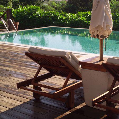 Parrot Cay, en el Salón de silla al lado de la piscina