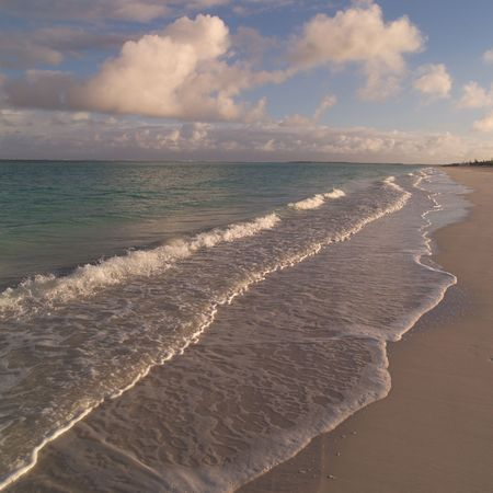 calming: Parrot Cay,Parrot cay beach Stock Photo