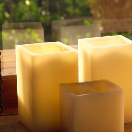 square: Parrot Cay,Square Candles