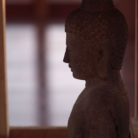cay: Parrot Cay,Stone Buddha Sculpture