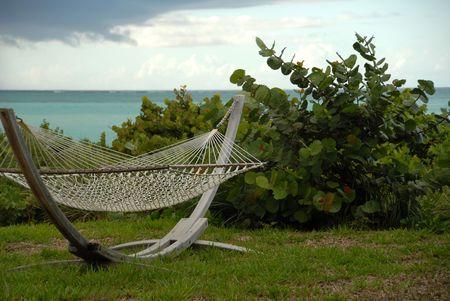 Parrot Cay,Hammock on shoreline in Parrot Cay