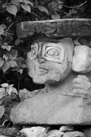 cay: Parrot Cay,Stone sculpture Stock Photo