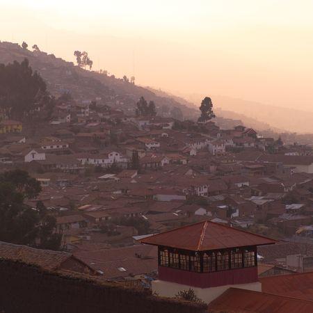 Cusco Peru, Aerial view of Cusco Фото со стока
