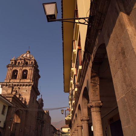 Cusco Peru, Buildings in Cusco Фото со стока