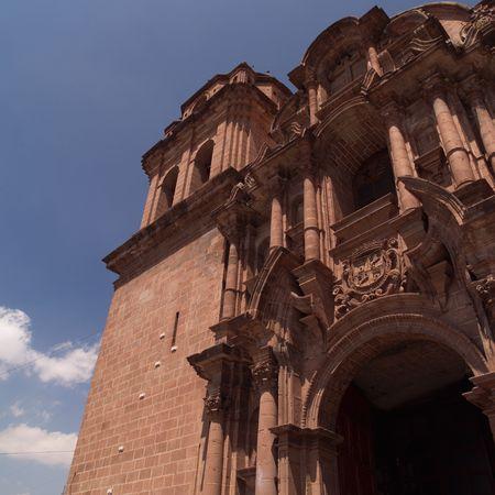 Cusco Peru, Exterior of a Church in Cusco