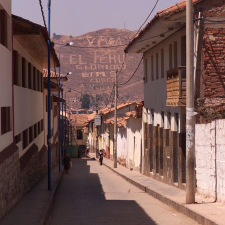 cusco: Cusco Peru, Narrow streets of Cusco Stock Photo