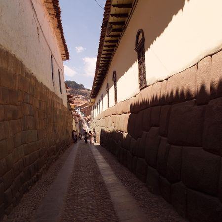 cusco: Cusco Peru, Exterior of buildings in Cusco Stock Photo