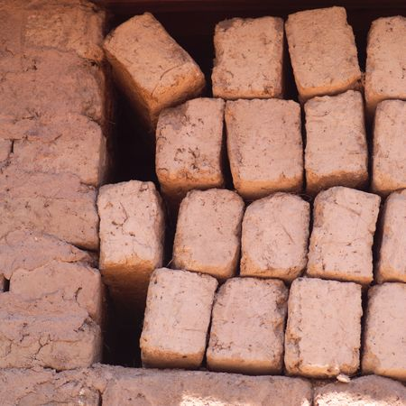 Peru - Sacred Valley, Stack of bricks Stok Fotoğraf