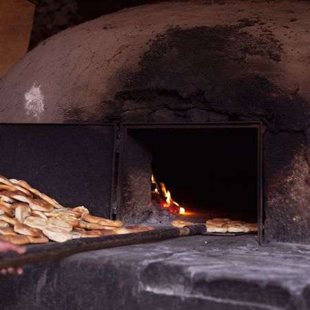 pisaq: Pisaq Market in Peru, Open oven Stock Photo