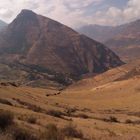 pisaq: Ruins of Pisaq - Temple of the Sun in Peru, Landscape in Pisaq