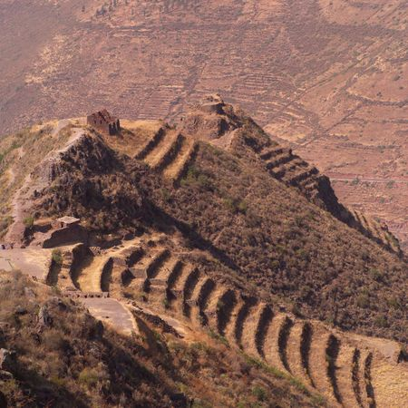 tier: Ruins of Pisaq - Temple of the Sun in Peru, Tier levels on Mountainside