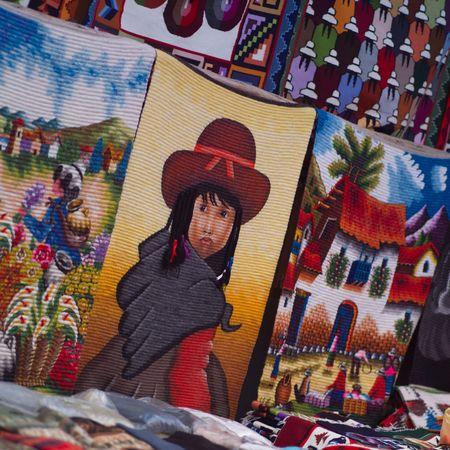 pisaq: Pisaq Market in Peru, Hand crafted blanket
