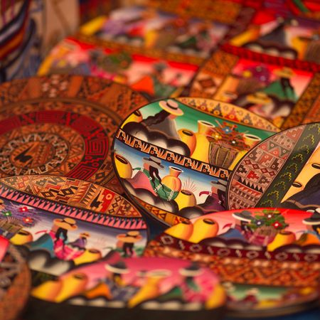 pisaq: Pisaq Market in Peru, Hand crafted plates