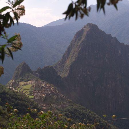mountainside: Peru - Machu Picchu, Machu Picchu Landscape Stock Photo