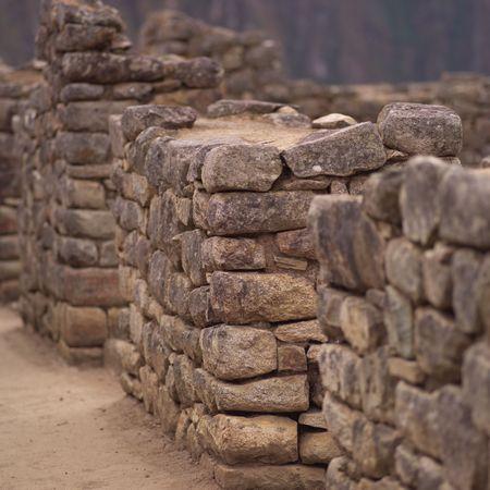 Peru - Machu Picchu, Ancient Ruins in Machu Picchu Stok Fotoğraf