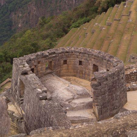 Peru - Machu Picchu, Ancient Ruins in Machu Picchu Фото со стока