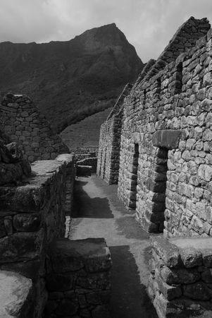 Peru, Ancient Ruins in Machu Picchu