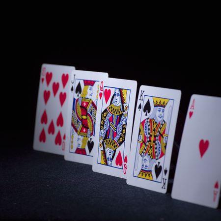 jacks: Card Game of Poker,Line of cards