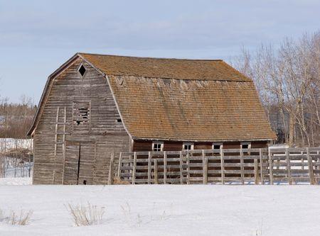 Northern Alberta, Old barn in Northern Alberta photo