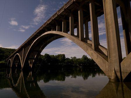Branson Missouri, Bridge over a river in Branson Missouri 写真素材