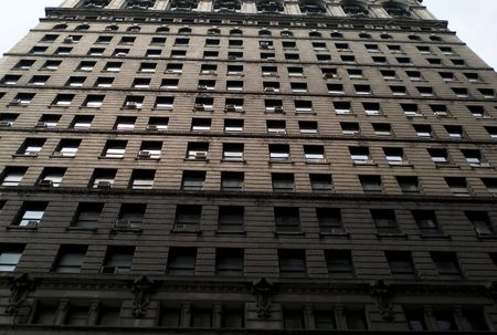 ade: New York City, Exterior fa�ade of building in New York City