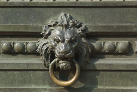 Charmant New York City, Lion Head Door Knocker Stock Photo   2428558
