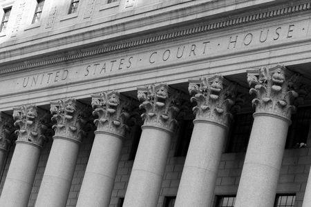 New York City, United States Court House in Manhattan Banque d'images