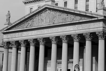 マンハッタンのニューヨーク市、米国の裁判所の家 写真素材 - 2428808