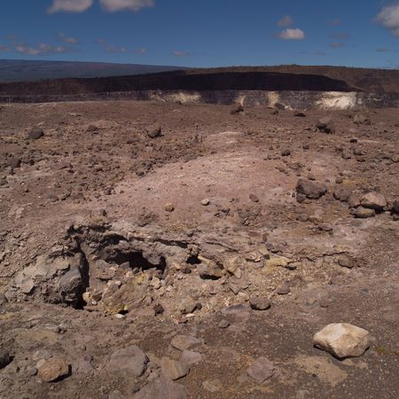A vast landscape of lava rock in Hawaii Volcanoes National Park Stock Photo - 4633444