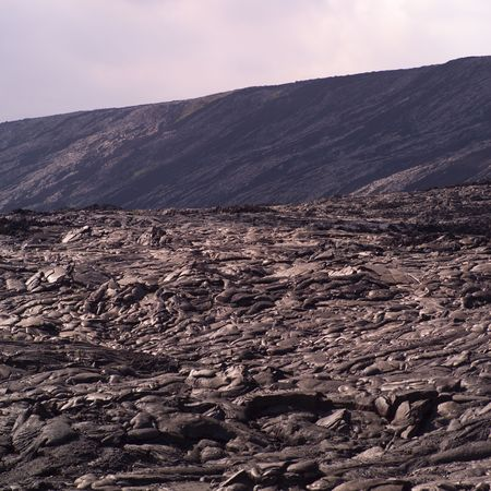 A vast landscape of lava rock in Hawaii Volcanoes National Park Stock Photo - 4633287