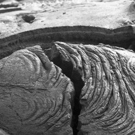 bumpy: A lump of solid lava in Hawaii Volcanoes National Park. Stock Photo