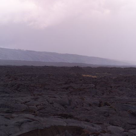 A vast landscape of lava rock in Hawaii Volcanoes National Park