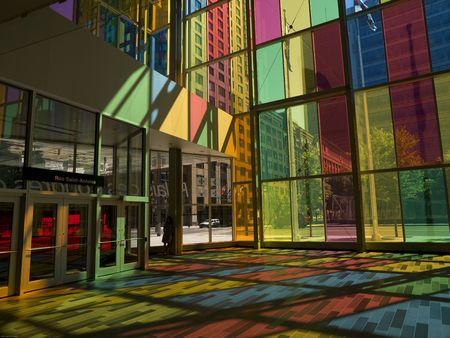 des: Interior of Convention Centre, Palais des Congres de Montreal