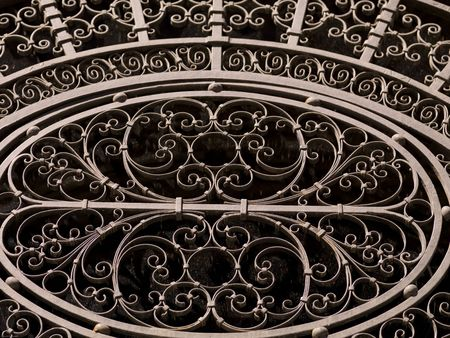 ironworks: Pattern on a building in Montreal Stock Photo