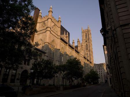 Bacilica Notre-Dame à Montréal, Québec, Canada Banque d'images - 4633213