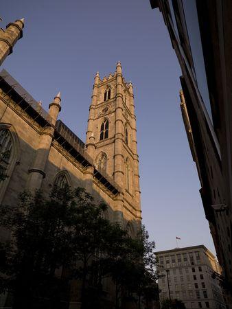 Bacilica Notre-Dame à Montréal, Québec, Canada Banque d'images - 4633384